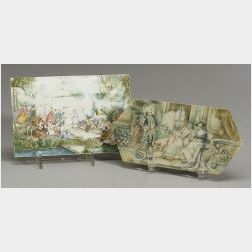 Miniature Painting on Ivory after Lancret
