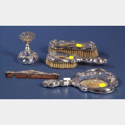 Four Piece Frank M. Whiting Sterling Dresser Set