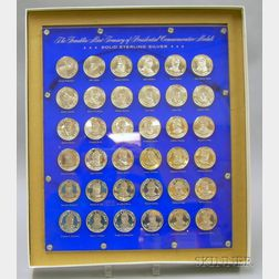Set of Thirty-six Sterling Silver Presidential Commemorative Coins