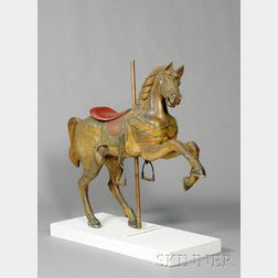 Carved and Painted Prancer Carousel Horse