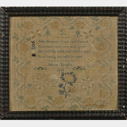 Quaker School Needlework Sampler