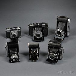 Six German Folding Cameras