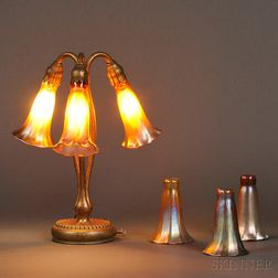 Tiffany Studios Three-light Lily Lamp
