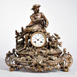J. Falconnier Bronze French Statuary Clock