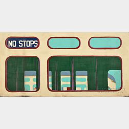 Mary Beams (American, b. 1945)      Triptych: No Stops, Driver, Newspaper Reader