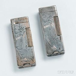 """Two Silver Dunhill """"Shanghai"""" Lighters"""
