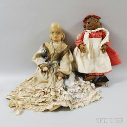 Two Cloth Dolls