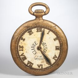 Pocket Watch-form Trade Sign