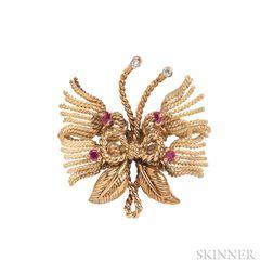 18kt Gold Butterfly Brooch, Tiffany & Co.