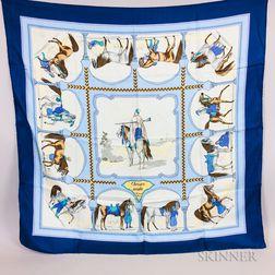 Three Hermes Silk Scarves