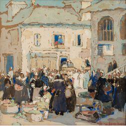 Irma René Koen (American, 1883-1975)      Brittany Market