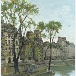 Constantine Kluge (French, b. Russia 1912)  View from the Seine
