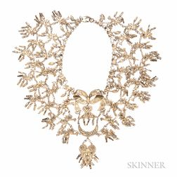 Silver-gilt Filigree Necklace