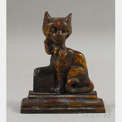 Ye Cheshire Cat Cast Iron Doorstop