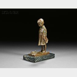 Two Sculptures:      Martha Jackson Cornwell (American, 1865-1955), Young Girl and Turtle