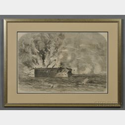 Frank Leslie Print The Bombardment of Fort Sumter