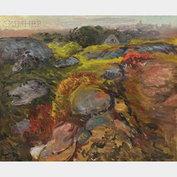 John Sloan (American, 1871-1951)      Autumn Rocks