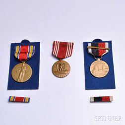 Nine American War-related Bronze Medals