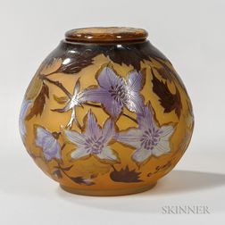 Galle Cameo Glass Covered Jar