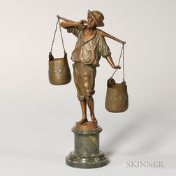 After Franz Rosse (German, act. 1858-1900)    Bronze Figure of a Water Carrier