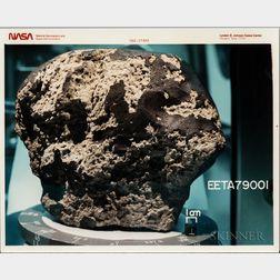 Martian Meteorite EETA79001, Six Photographs.