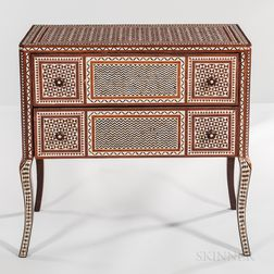 Moorish-style Inlaid Chest of Drawers