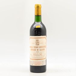 Chateau Pichon Lalande 1985, 1 bottle