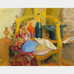 Jack N. Kramer (American, 1923-1984)      Lot of Two Works: Still Life with Golden Chair