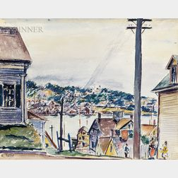 Max Kuehne (American, 1880-1968)      Gloucester Harbor Scene