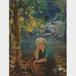 Arthur Clifton Goodwin (American, 1864-1929)      Mrs. Goodwin at Devil's Hole