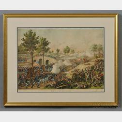 Color Kurz & Allison Print Battle of Antietam