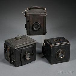 Three German Large Format Reflex Plate Cameras