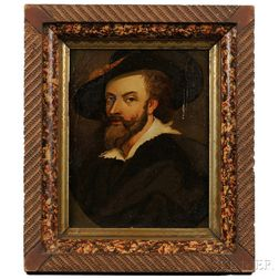 After Peter Paul Rubens (Flemish, 1577-1640)    Copy after Rubens's Self Portrait of 1623