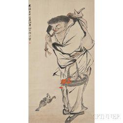 Hanging Scroll Depicting Liu Hai