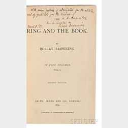 Browning, Robert (1812-1889) The Ring and the Book, Author's Presentation Copy.