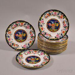 Set of Eighteen Copeland Spode Ironstone Luncheon Plates