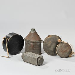 Four Canteens and a Condiment Tin