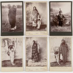 Six Cabinet Card Photos of American Indian Women and Children