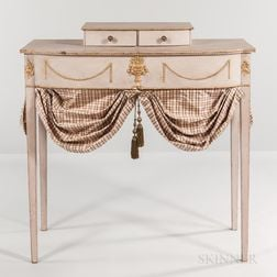 White-painted Dressing Table with Gilt Detail