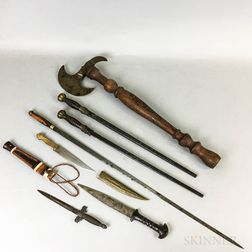 Six Bladed Weapons and an Axe