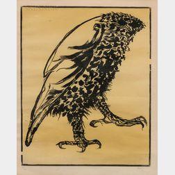 Leonard Baskin (American, 1922-2000)      Owl