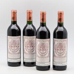 Chateau Pichon Baron 1990, 4 bottles