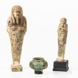 Three Egyptian Ceramic Items