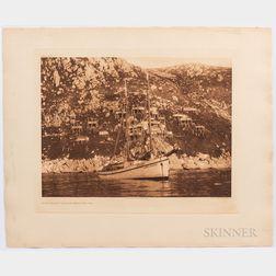 Eight Edward Sheriff Curtis King Island Photogravures, c. 1914 to 1928.