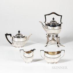 Georgian-style Four-piece Silver Tea Service