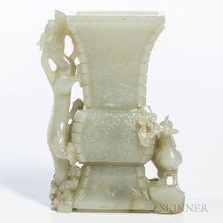 Nephrite Jade Vase