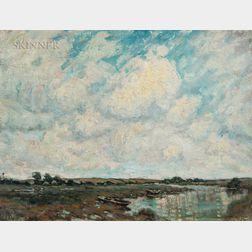 Henry Rodman Kenyon (American, 1861-1926)      Saltmarsh at the Tide's Turn