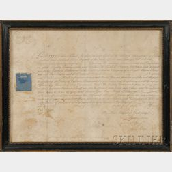 Two Framed Royal Naval Commissions