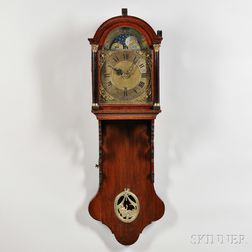 Mahogany Dutch Hood Wall Clock with Automata