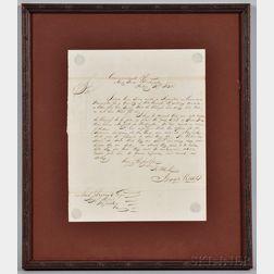 Hull, Commodore Isaac (1773-1843) Secretarial Letter Signed, Washington Navy Yard, 10 February 1832.